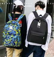 Large capacity backpack trendy fashion BTS
