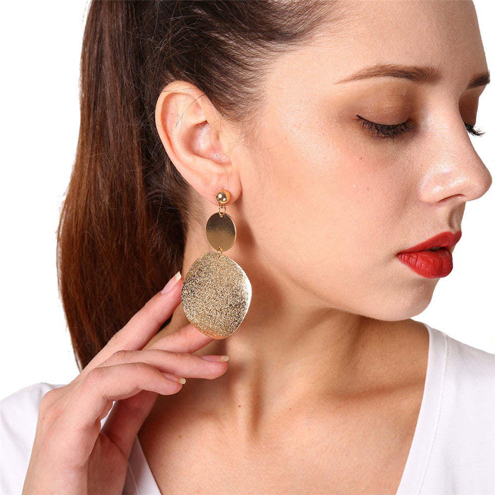 Personality exaggerated earrings retro geometric   all-match earrings
