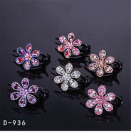 Hair accessories boutique clip large flower rhinestone hair clip adult duckbill clip hair pressure clip lady head jewelry