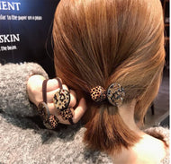 Rhinestone Leopard Hair Tie All-match Women's Korean Head Rope