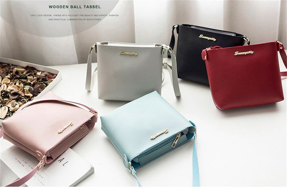 Small simple female bag shoulder messenger bag casual square
