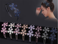 Headband female broad-brim hair headband with rhinestones simple fashion elegant super fairy wild sweet headwear-flower
