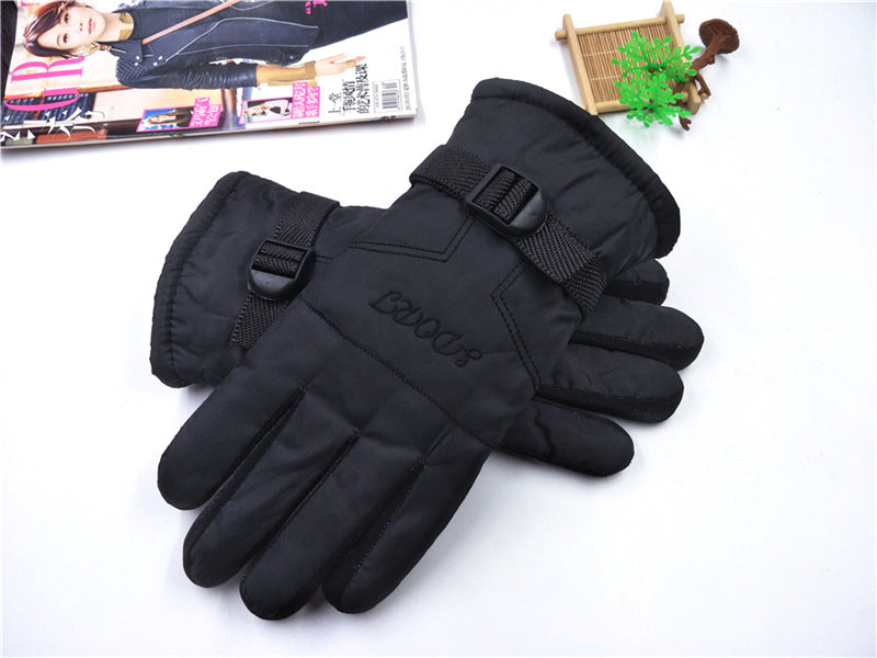 Winter men's gloves thick warm and velvet non-slip cycling gloves