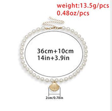 Load image into Gallery viewer, Creative and simple scallop personality necklace female pearl shell single layer temperament necklace