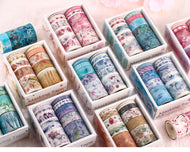 Ten rolls of washi tape decorative tape