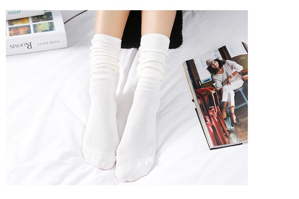 Cotton Socks women Japanese style autumn  winter cotton mid-long