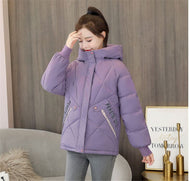 Women's short cotton-padded jacket down loose coat padded winter jacket casual fashion color