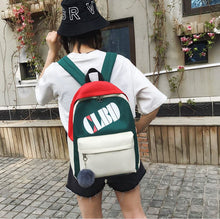 Load image into Gallery viewer, Canvas backpack schoolbag four in one shopping bags  big capacity unisex