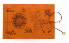 Load image into Gallery viewer, Treasure Map Retro Canvas Leather Large-capacity  Pencil bag Roll