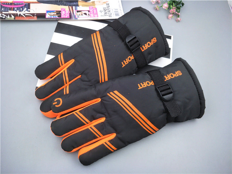 Thick ski gloves men's  warm winter gloves with velvet double layer