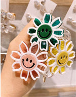 Hair rope Sun Flower Telephone Line Smiley Adult Hair Rope Transparent Fresh style