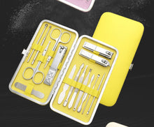 Load image into Gallery viewer, 15pcs stainless nail clipper scissor ear foot facial beauty tool set