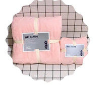 Load image into Gallery viewer, Super soft absorbent body towel face towel set of 2