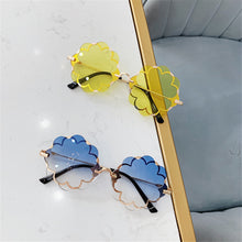 Load image into Gallery viewer, Children's Flower Sunglasses Frameless Trimming  Party Glasses Fashion Creative Sunglasses