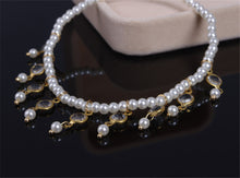 Load image into Gallery viewer, Simple retro beach foot ornament  pearl bead crystal Anklet Chain