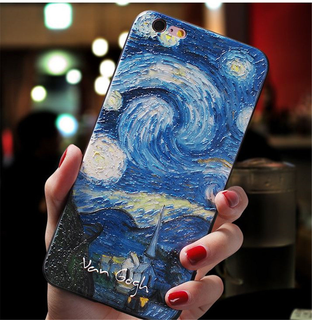 Mobile phone  case silicone  anti-drop for iphone  11 11pro max personality and creativity 3D relief