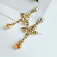 Load image into Gallery viewer, Fashion rhinestone cross earrings new butterfly personalized earrings