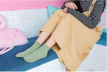 Load image into Gallery viewer, Cotton  color wooden ear boat socks fashion short  women's socks