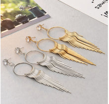 Load image into Gallery viewer, Fashion Earrings Long Tassel Alloy Earrings Jewelry Women's Accessories with Rhinestones