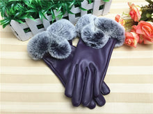 Load image into Gallery viewer, Touch screen gloves double layer fluff winter warm windproof for women