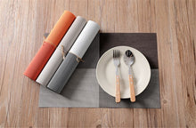 Load image into Gallery viewer, PVC placemat Teslin table mat fashionable and versatile