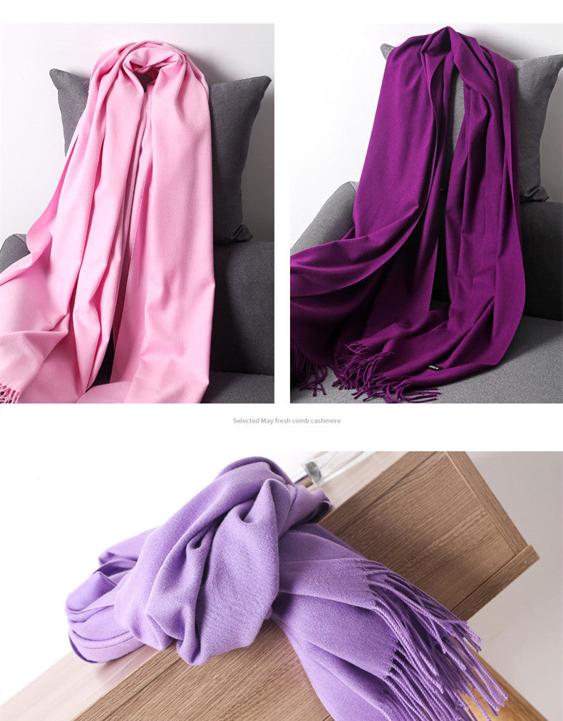 Scarf for Women Cashmere Scarfs Warm Wool Wrap Shawl Stole