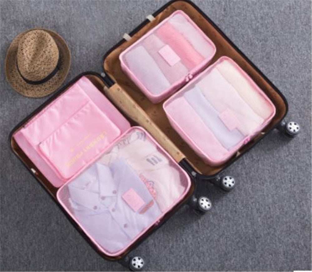 6pcs travel storage bag set multifunction enlarged luggage storage bag