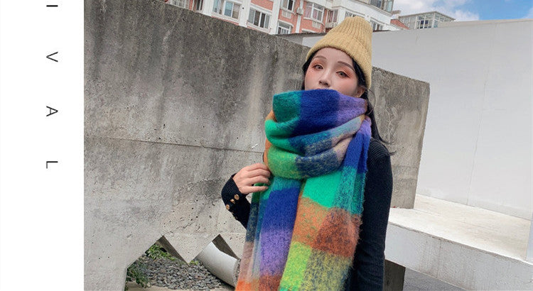 Color thick winter warm scarf windproof and soft