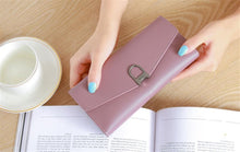 Load image into Gallery viewer, Hot-selling new ladies wallet long buckle simple multi-card female coin purse