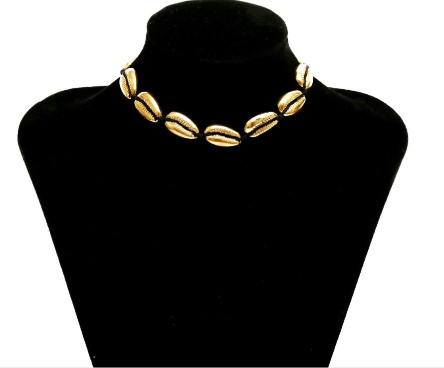 Jewelry bohemian fashion all-match style item handmade stringed alloy shell necklace female