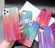 Load image into Gallery viewer, Samsung mobile phone case glitter aurora series gradient color tempered glass case NOTE 8 9 S8 9 10
