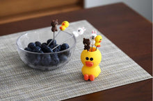 Load image into Gallery viewer, Stainless Steel Duckling Fruit Fork Set Children's Mini Bento Sign