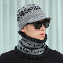 Load image into Gallery viewer, New style hat men's winter warm woolen hat  outdoor knitted hat bib suit plus velvet thick cap