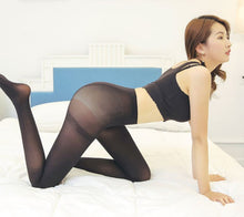Load image into Gallery viewer, Goose down 50D double crotch pantyhose spring and autumn stockings