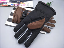 Load image into Gallery viewer, Thick ski gloves men's  warm winter gloves with velvet double layer