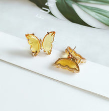 Load image into Gallery viewer, Butterfly multicolor earrings female temperament  acrylic earrings fashion personality jewelry