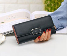 Load image into Gallery viewer, Ladies wallet noble and elegant simple female long three-fold bag large-capacity multi-card wallet