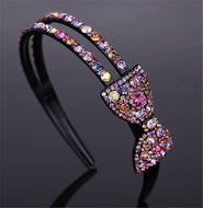 Headband female broad-brim hair headband with rhinestones simple fashion elegant super fairy wild sweet headwear-butterfly