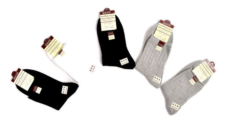 Men's sports double-needle cotton socks autumn winter cotton socks