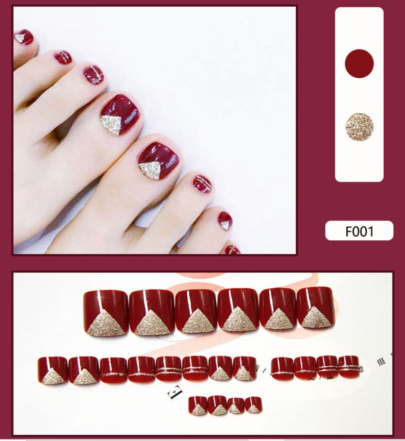 Fake nails finished product wear nails false toe nails toe nail patch nail art patch nail patch waterproof