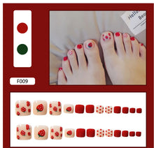 Load image into Gallery viewer, Fake nails finished product wear nails false toe nails toe nail patch nail art patch nail patch waterproof