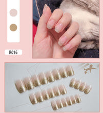 Load image into Gallery viewer, Finished fake nails, nail pieces, nail pieces, 24 pieces,waterproof
