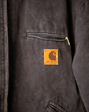 Load image into Gallery viewer, Vintage Sun Faded Black Carhartt Lined Work Jacket