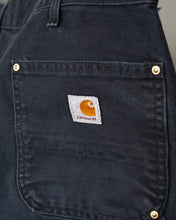 Load image into Gallery viewer, Vintage Black Carhartt Double Front Dungaree