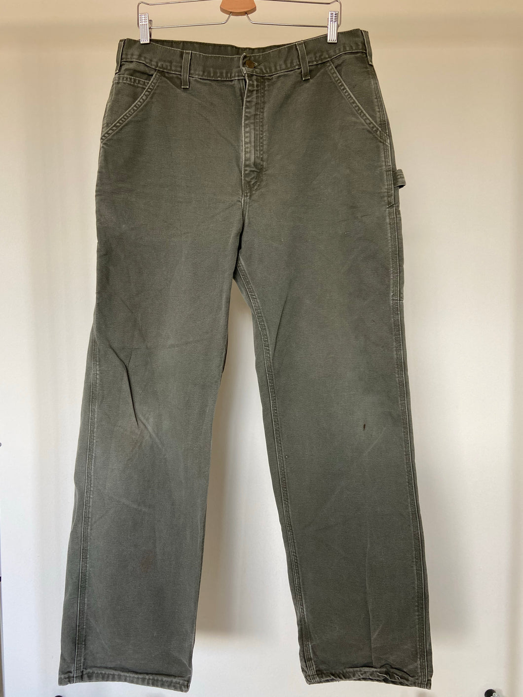 Vintage Green Carhartt Carpenter Pants (34X33.5)