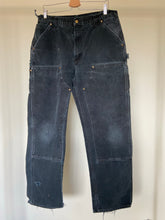 Load image into Gallery viewer, Vintage Black Carhartt Double Front Dungaree (34X32)