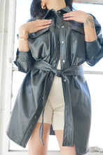 Load image into Gallery viewer, SoHo Babe Faux Leather Shirt Jacket