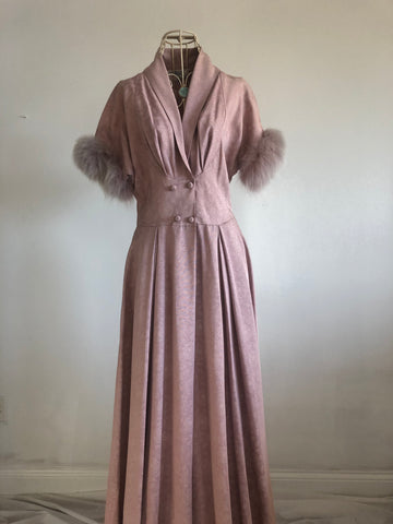 "1940's Glamourous "" At Home""  Mitzi lounging robe"