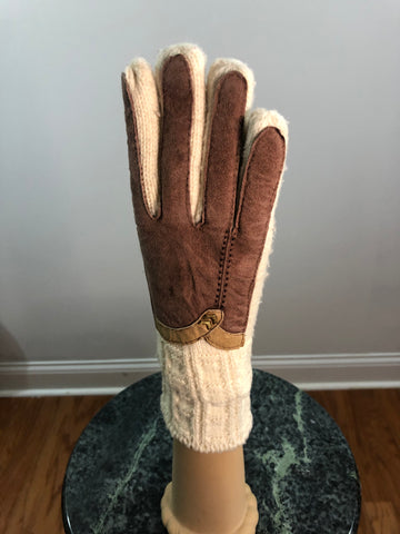 Accessories, Gloves, Wool with suede accent