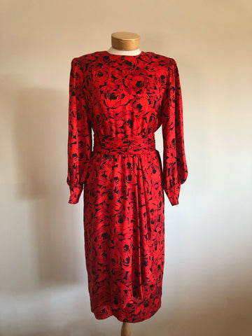 Dress, Roue silk, Vintage, Sz. Md/Lg.
